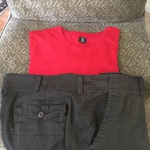 Men's 2XL size  top + 46 waist Shorts bundle